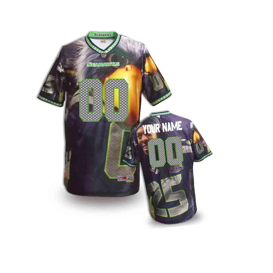Nike Seahawks Customized Fashion Stitched Youth Jerseys14