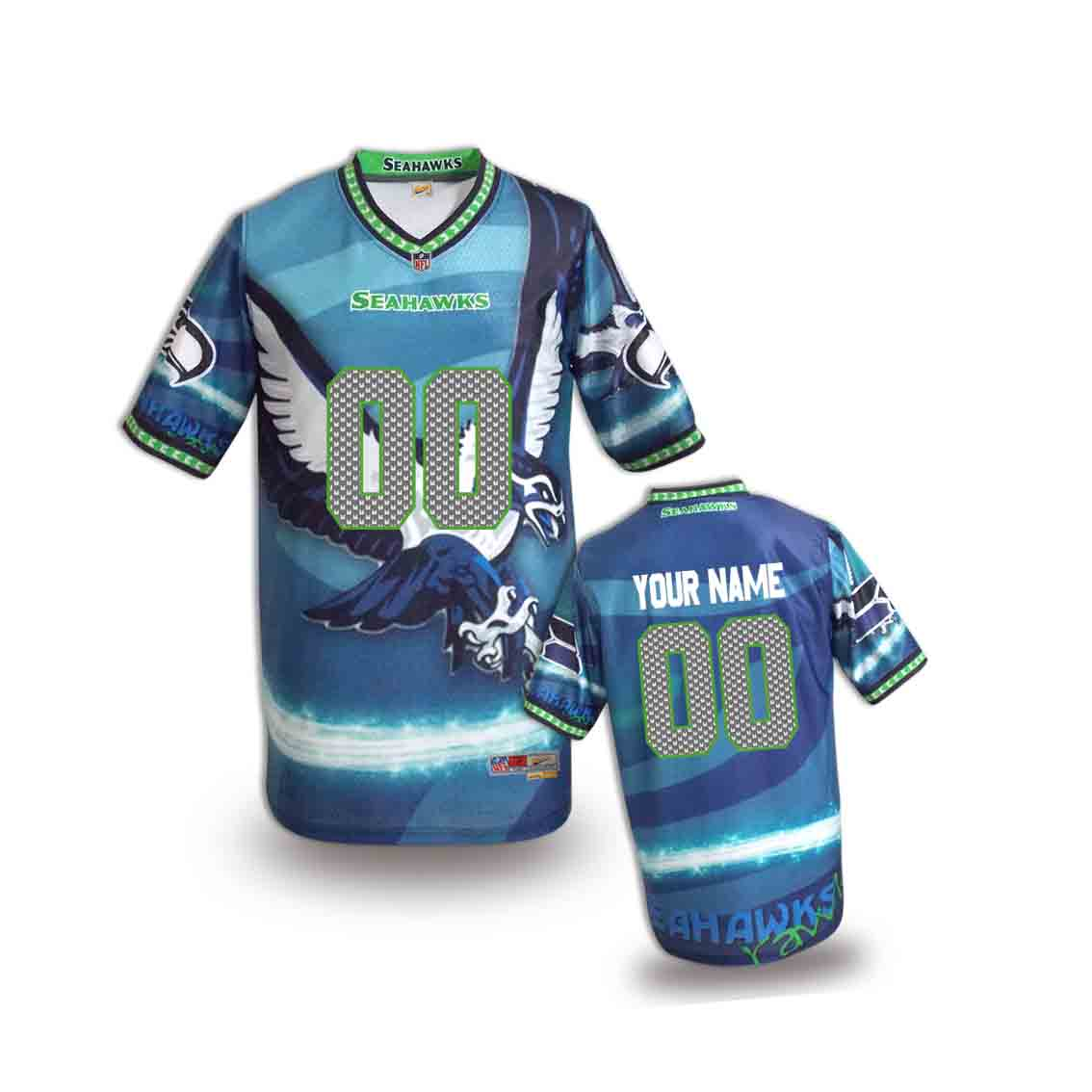 Nike Seahawks Customized Fashion Stitched Youth Jerseys15