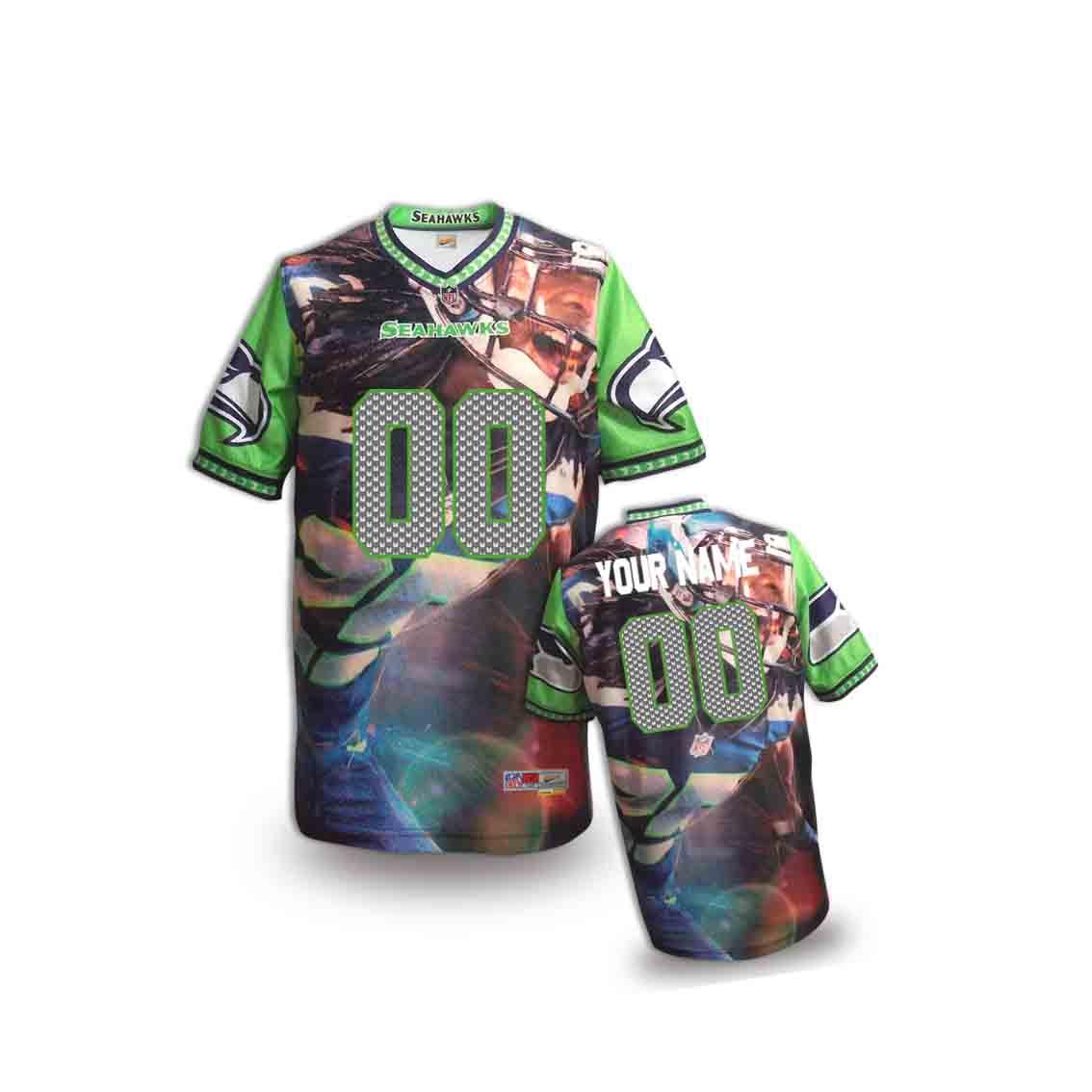 Nike Seahawks Customized Fashion Stitched Youth Jerseys16