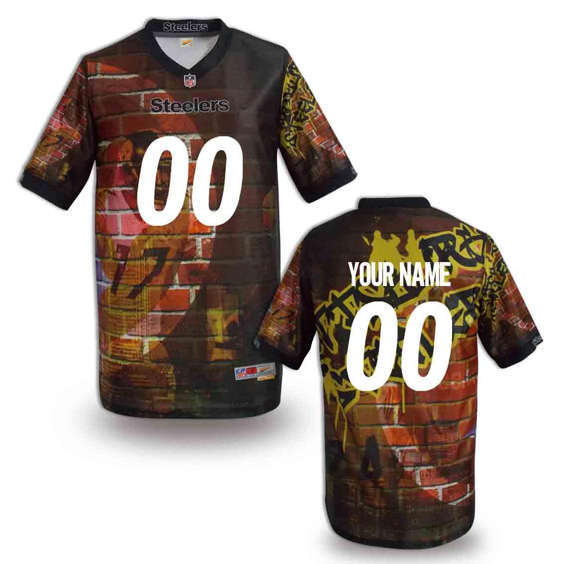 Nike Steelers Customized Fashion Stitched Youth Jerseys04