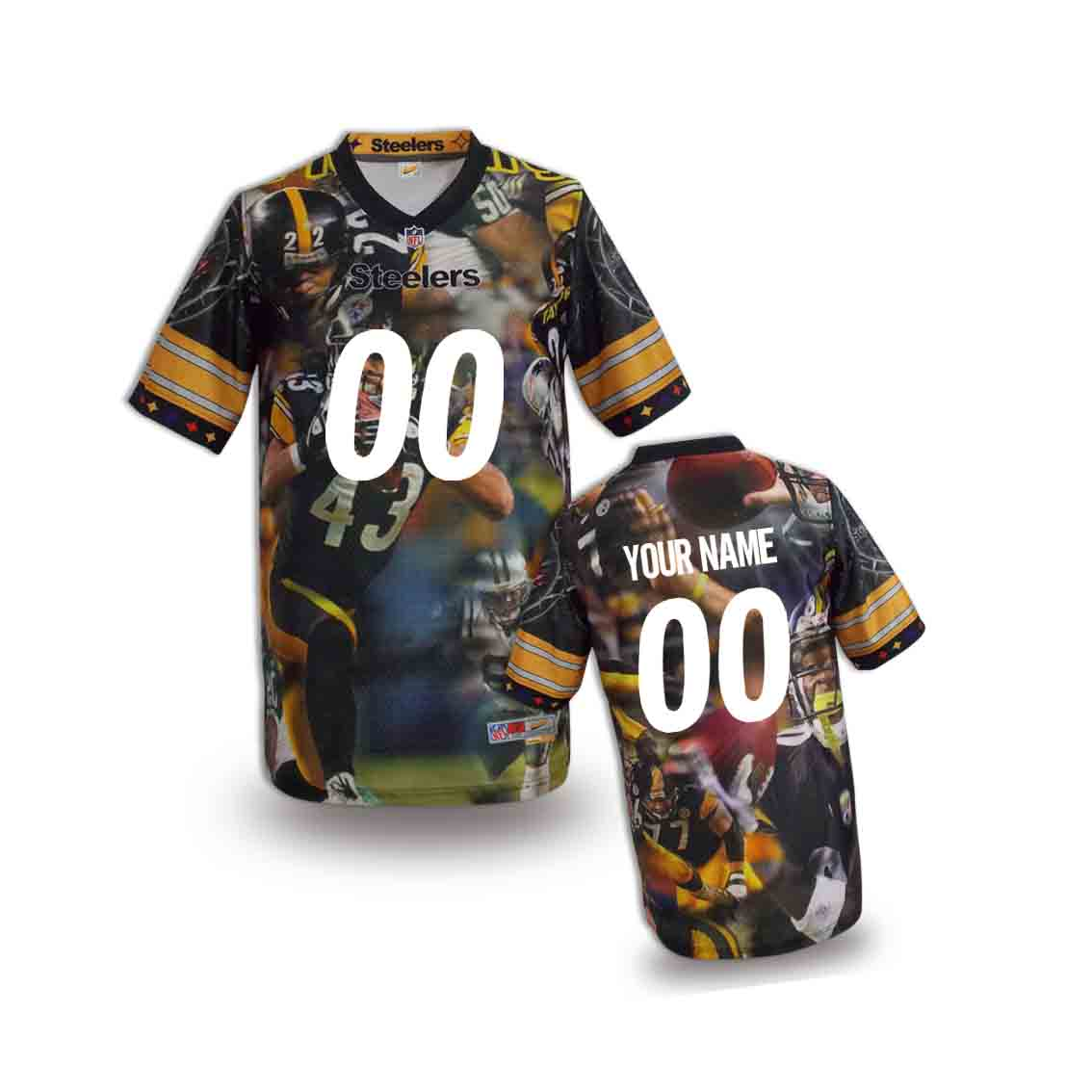 Nike Steelers Customized Fashion Stitched Youth Jerseys05