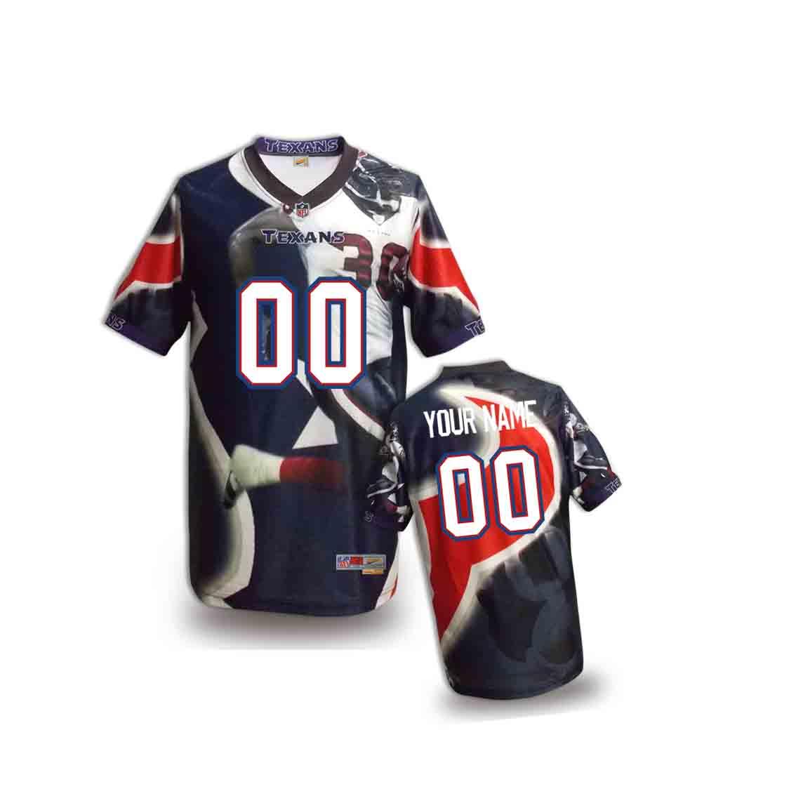 Nike Texans Customized Fashion Stitched Youth Jerseys03