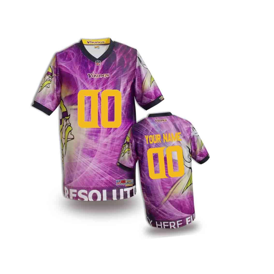 Nike Vikings Customized Fashion Stitched Youth Jerseys01