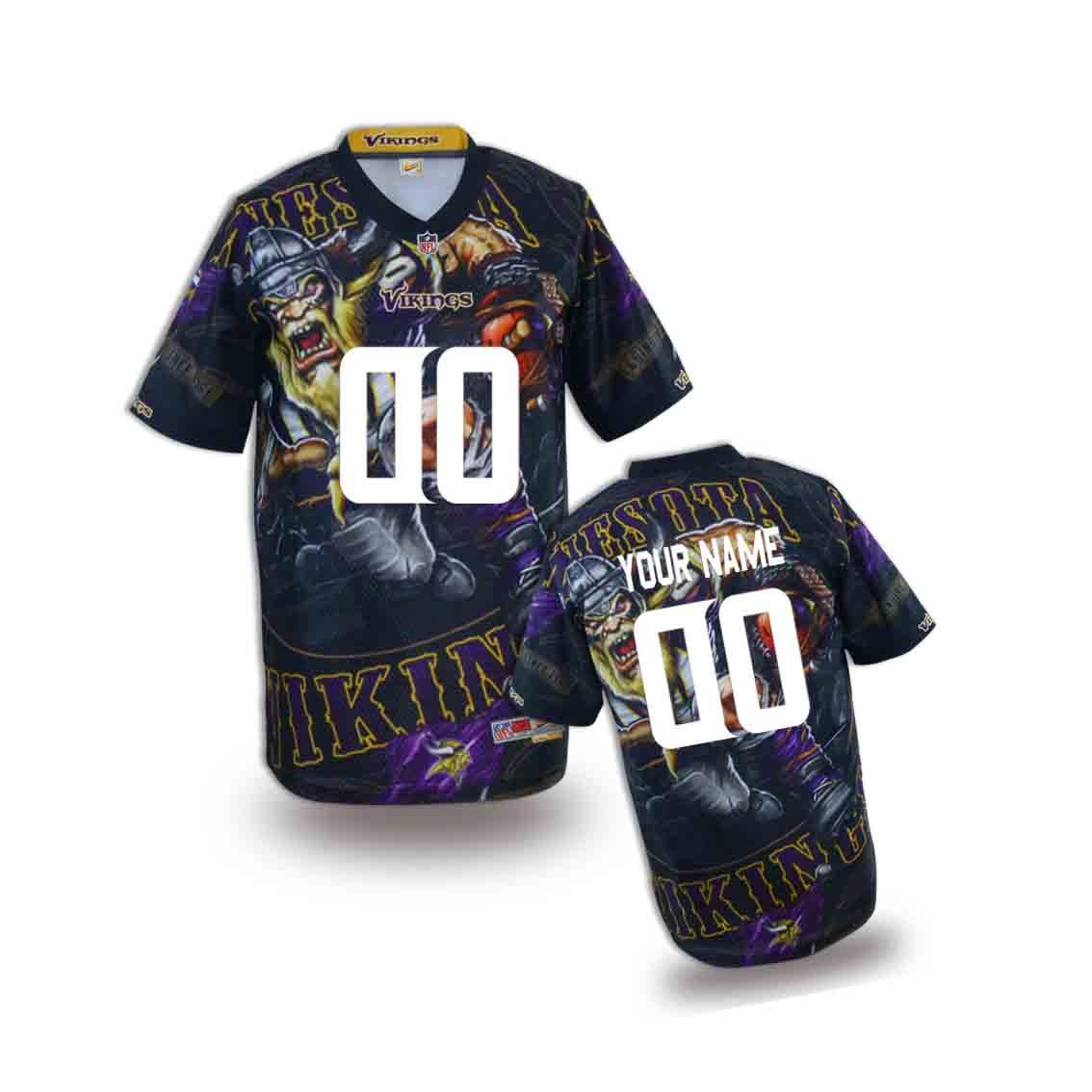 Nike Vikings Customized Fashion Stitched Youth Jerseys02