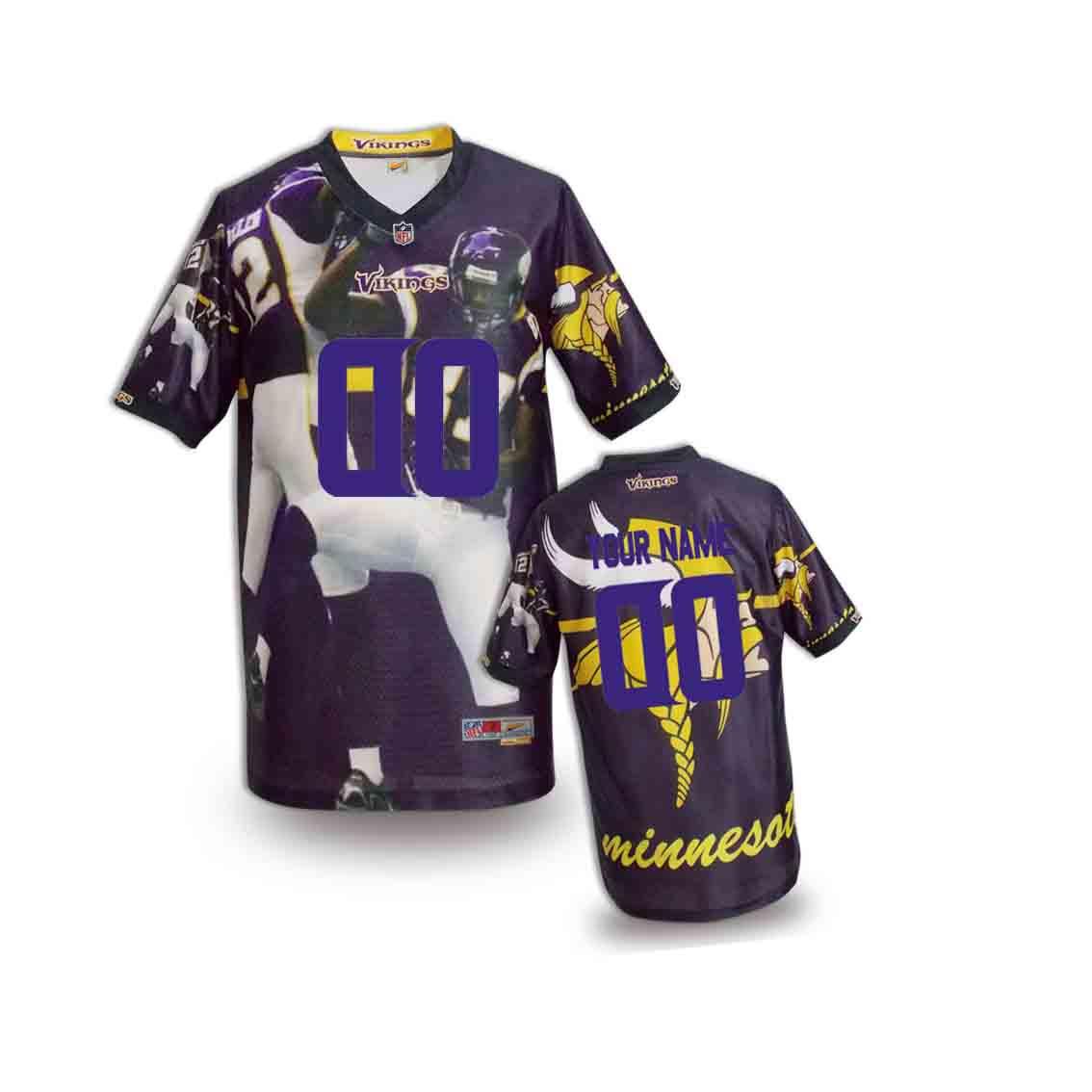 Nike Vikings Customized Fashion Stitched Youth Jerseys04
