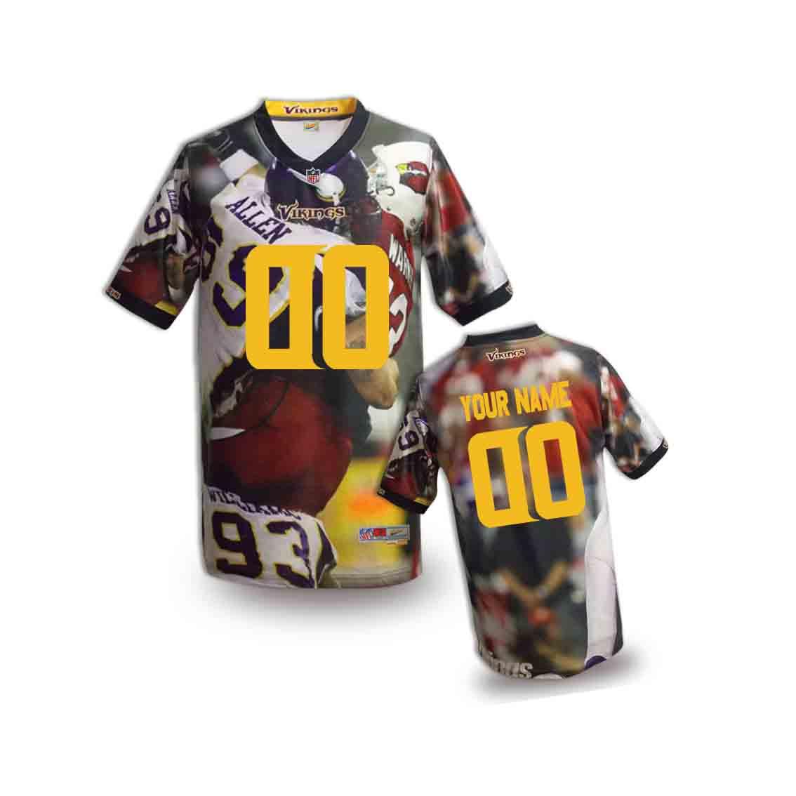 Nike Vikings Customized Fashion Stitched Youth Jerseys07