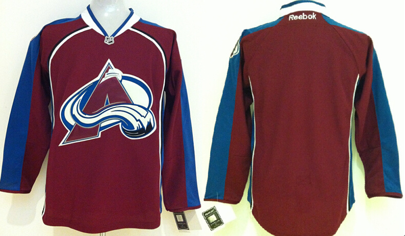 Avalanche Blank Red New Jerseys