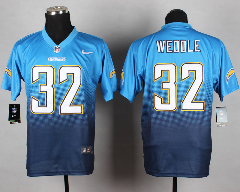 Nike Chargers 32 Weedle Blue Drift Fashion II Elite Jerseys