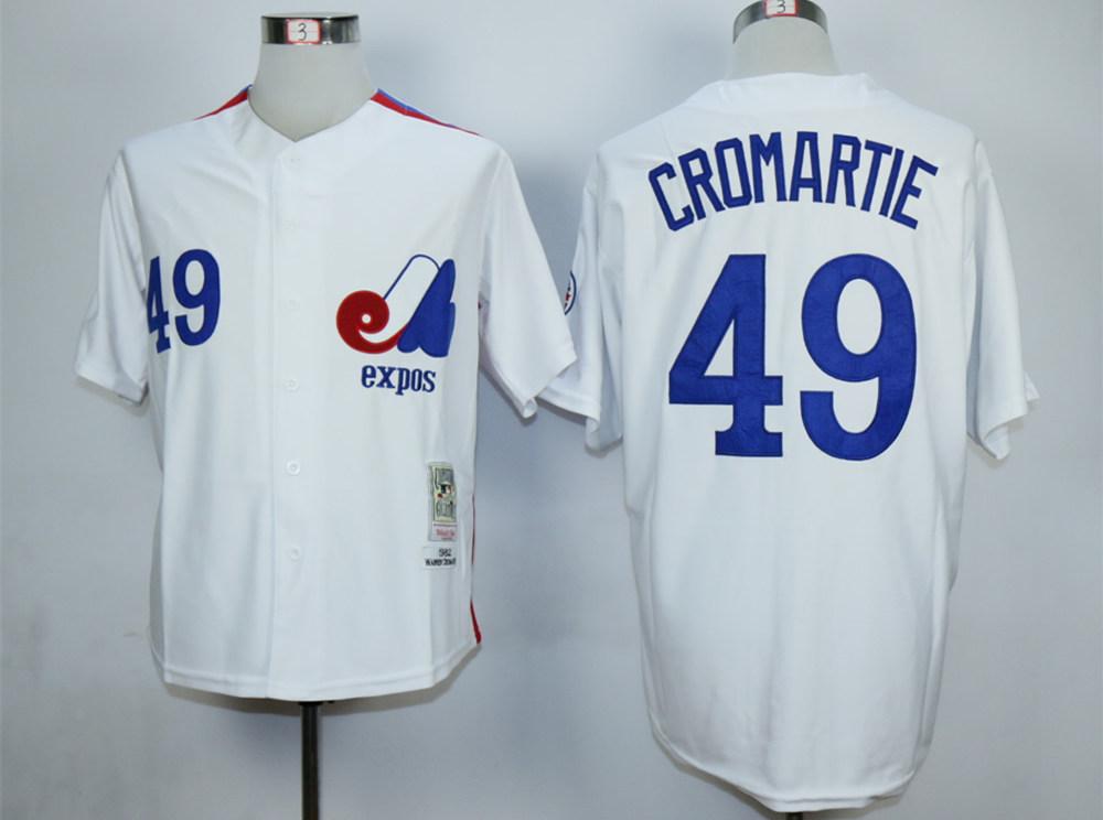 Expos 49 Warren Cromartie White Throwback Jersey