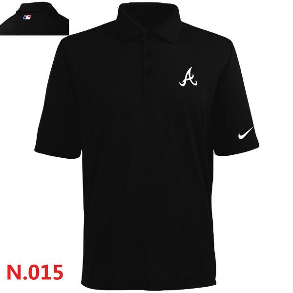 Nike Braves Black Polo Shirt