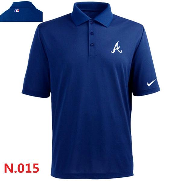 Nike Braves Blue Polo Shirt