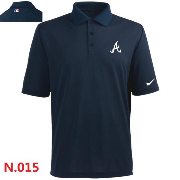 Nike Braves Navy Blue Polo Shirt