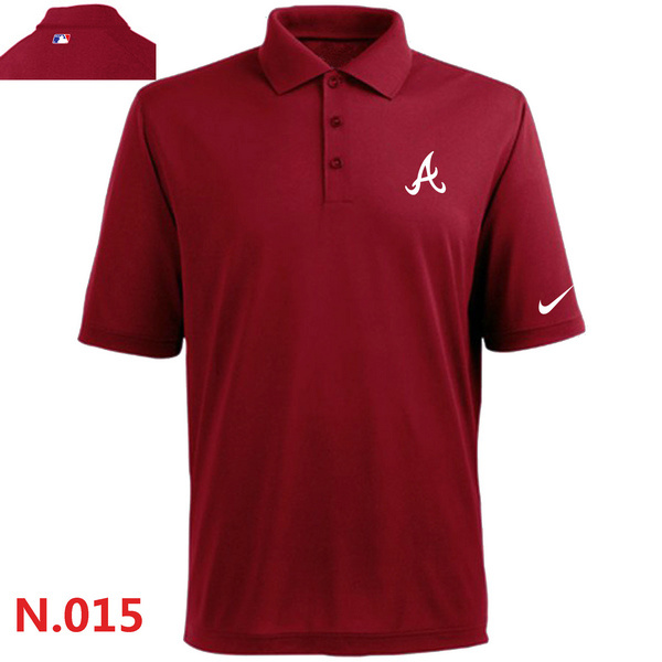 Nike Braves Red Polo Shirt