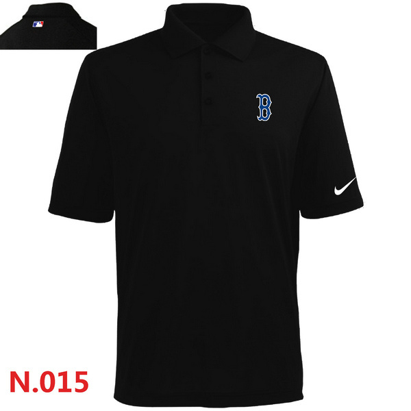 Nike Red Sox Black Polo Shirt