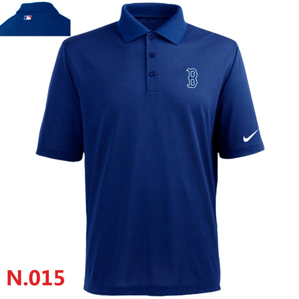 Nike Red Sox Blue Polo Shirt