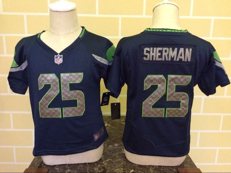 Nike Seahawks 25 Richard Sherman Blue Toddler Game Jersey