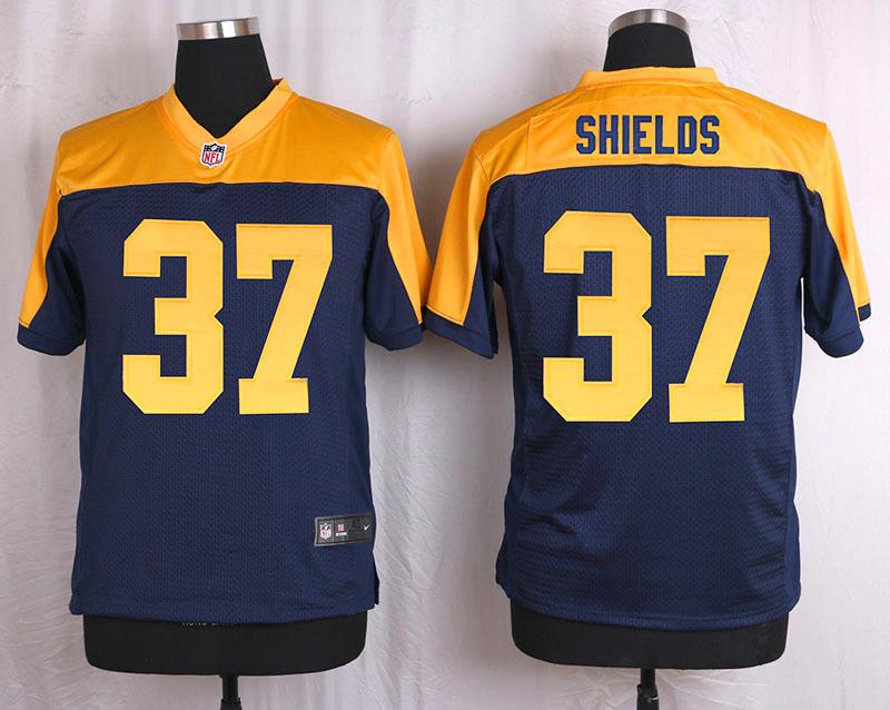Nike Packers 37 Sam Shields Navy Blue Alternate Elite Jersey