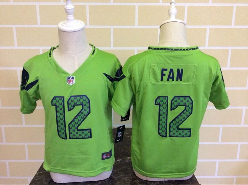Nike Seahawks 12 Fan Green Toddler Game Jersey