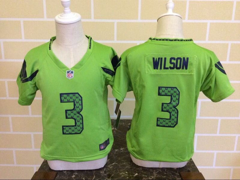 Nike Seahawks 3 Russell Wilson Green Toddler Game Jersey