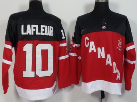 Canada 10 Guy Lafleur Red 100th Celebration Jersey