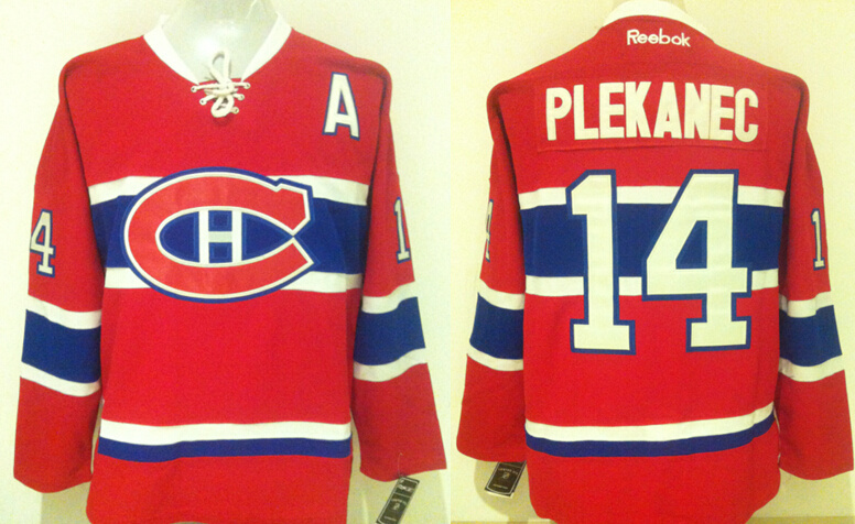 Canadiens 14 Tomas Plekanec Red USA Flag Reebok Jersey