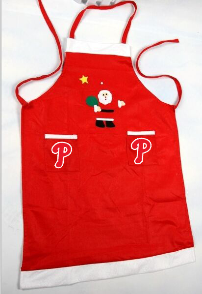 Phillies MLB Logo Christmas Apron
