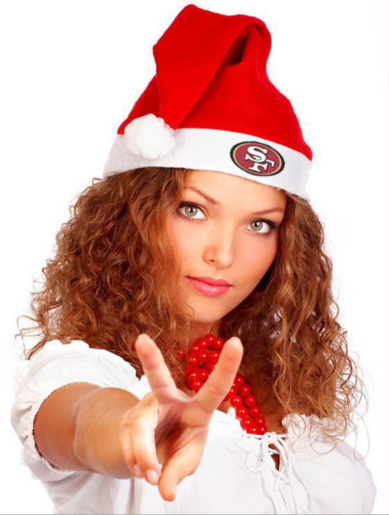 49ers NFL Logo Santa Hat