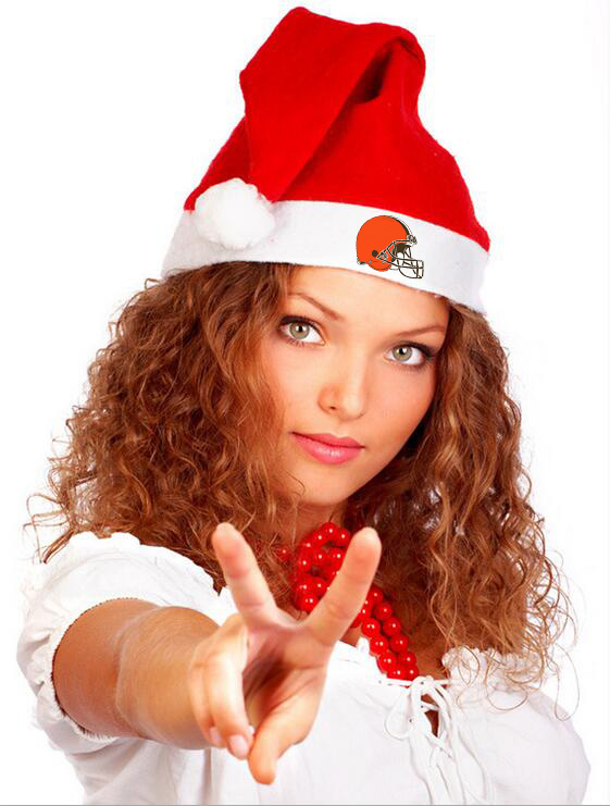 Browns NFL Logo Santa Hat