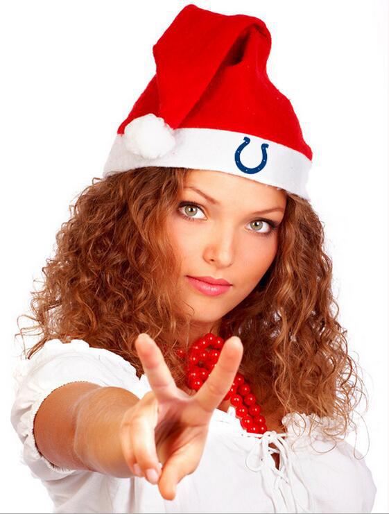 Colts NFL Logo Santa Hat