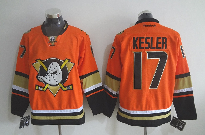 Ducks 17 Ryan Kesler Orange Reebok Jersey