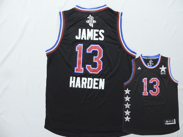 2015 NBA All Star NYC Western Conference 13 James Harden Black Jerseys