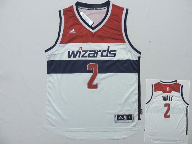 Wizards 2 Wall White New Revolution 30 Jerseys