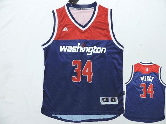 Wizards 34 Pierce Blue New Revolution 30 Jerseys