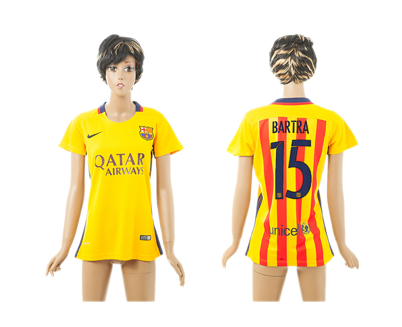 2015-16 Barcelona 15 BARTRA Away Women Jersey