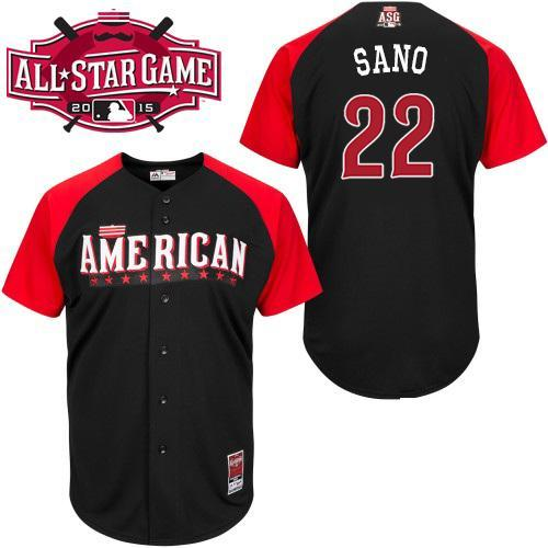 American League Twins 22 Sano Black 2015 All Star Jersey