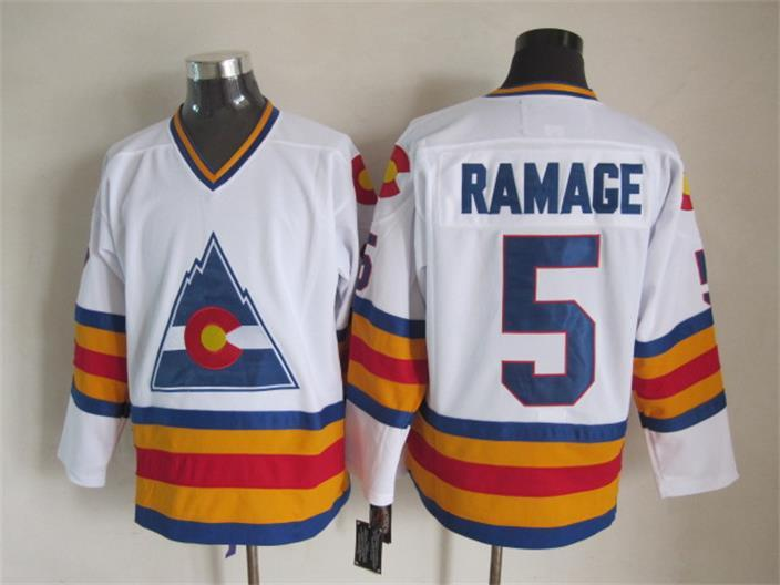 Avalanche 5 Ramage White CCM Jersey