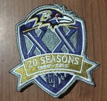 Ravens 1996-2015 20 Season Patch