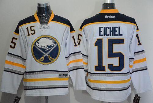 Sabres 15 Jack Eichel White Reebok Jersey