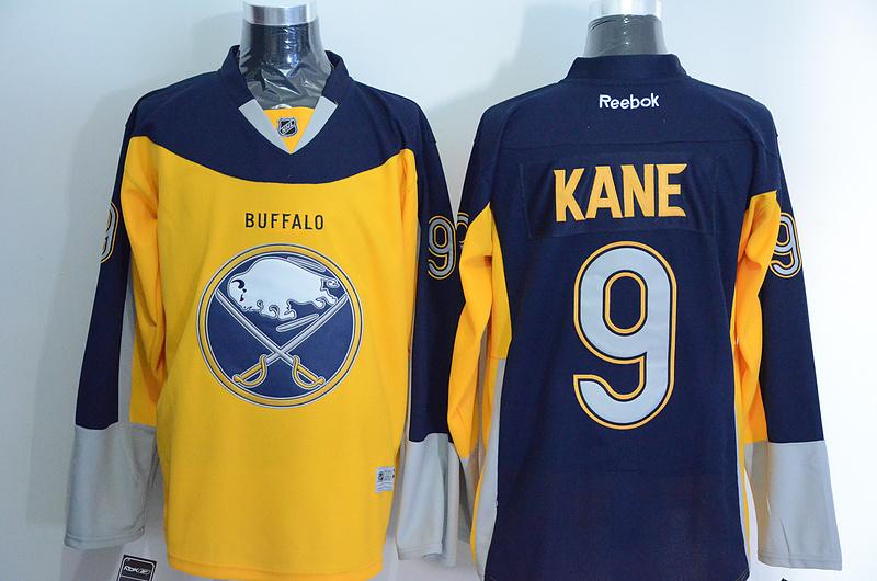 Sabres 9 Evander Kane Blue Alternate Premier Reebok Jersey