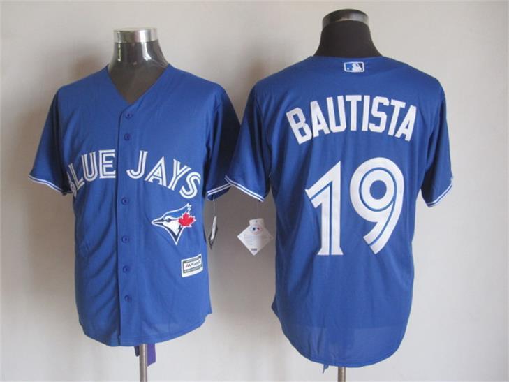 Blue Jays 19 Jose Bautista Blue New Cool Base Jersey
