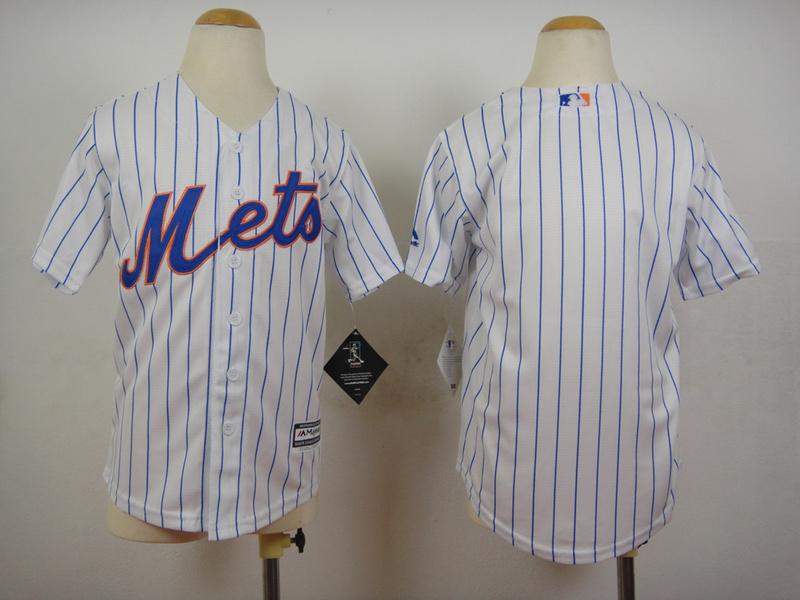 Mets Blank White Youth New Cool Base Jersey