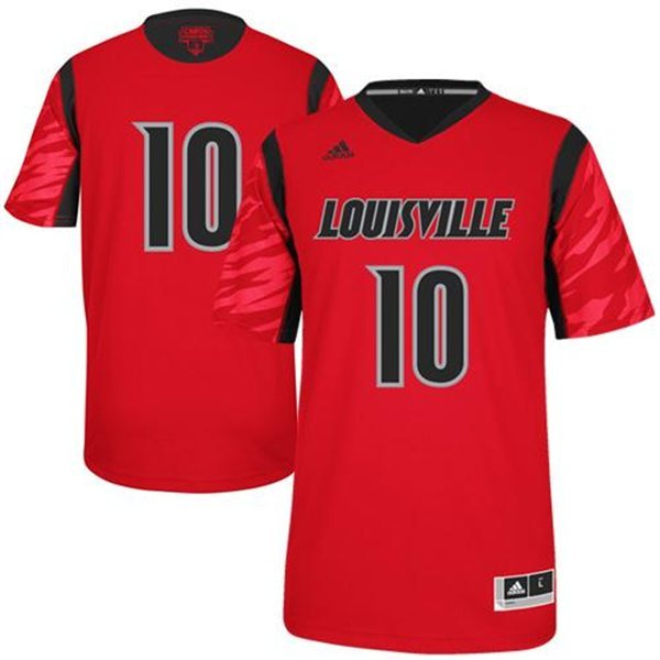 Louisville Cardinals 10 Gorgui Dieng Red College Jersey