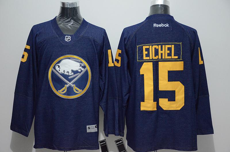 Sabres 15 Jack Eichel Blue Reebok Jersey