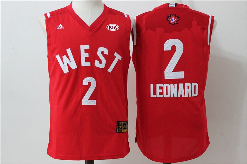 Spurs 2 Kawhi Leonard Red 2016 NBA All Star West Jersey