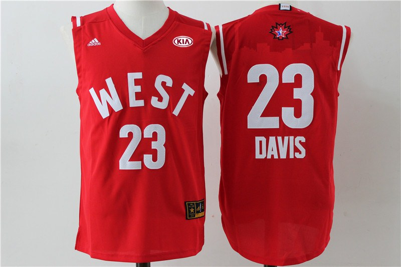 Pelicans 23 Anthony Davis Red 2016 NBA All Star West Jersey