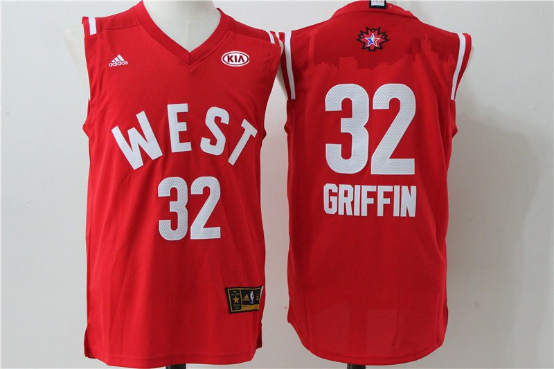 Clippers 32 Blake Griffin Red 2016 NBA All Star West Jersey