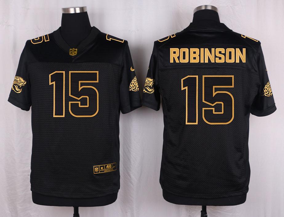 Nike Jaguars 15 Allen Robinson Pro Line Black Gold Collection Elite Jersey