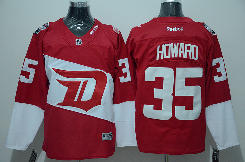 Red Wings 35 Jimmy Howard Red 2016 Stadium Series Reebok Jersey