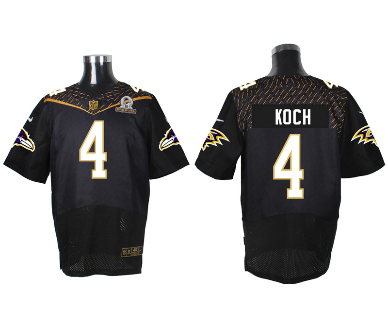 Nike Ravens 4 Sam Koch Black 2016 Pro Bowl Elite Jersey