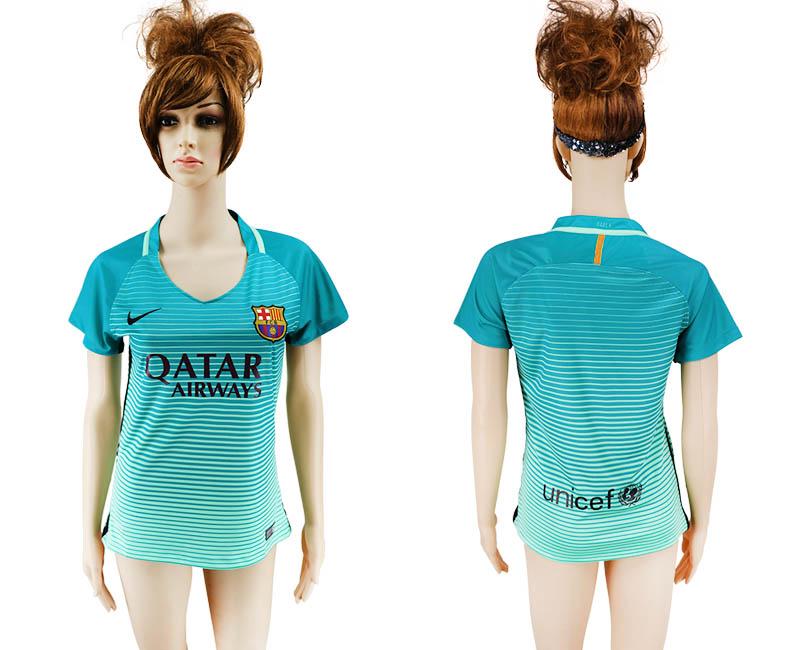 2016-17 Barcelona Third Away Women Soccer Jersey